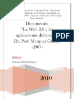 La Web 2.0 y las aplicaciones didácticas