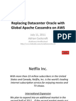 Replacing Datacenter Oracle with Global Apache Cassandra on AWS