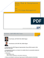 SAP Governance, Risk & Compliance Access Control 5.3 - Post-Installation - SPM