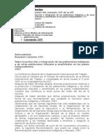 Convenio OIT 107 Sobre La Proteccion e Integracion de Las Poblaciones Indigenas y de Otras Poblaciones Tribuales y Semitribuales en Los Paises
