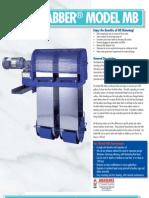 Oil Grabber Model MB, Multi-Belt Oil Skimmer | Abanaki Corporation