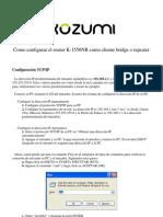 Como Configurar El K-1550NR Como Cliente Bridge o Repeater