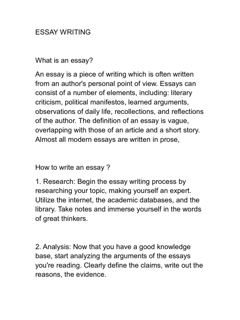 modern essay writing