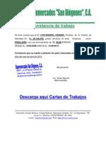 Modelo de Carta de Trabajo