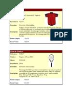 Fichas de Productos