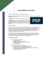 Deltek MPM Training