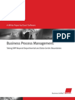 Business Process Management Taking ERP Beyond Departmental and Data Centric Boundaries
