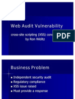 Web Audit Vulnerability