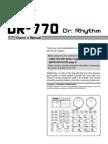 DR-770 manual