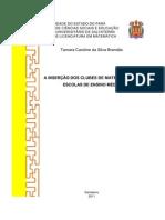 Pré-Projeto de Tamara Caroline Brandão-Clubes de Matemática