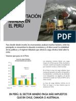 La tributación minera en el Perú