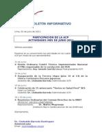 Boletín Informativo ACP - Junio 2011
