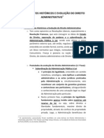 FUNDAMENTOS HISTÓRICOS E EVOLUÇÃO DO DIREITO ADMINISTRATIVO