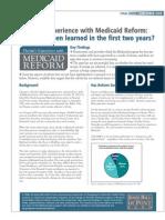 Florida Medicaid Pilot Program - Georgetown Report