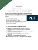 Guia de Estudio Modelos de Negocios