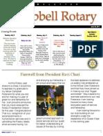 Rotary newsletter Jun 28 2011
