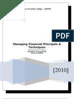 Managing Finincial Principles & Techniques Ms.safina