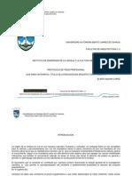 Protocolo de Tesis de Arquitectura Eliseo Aquino Lopezz