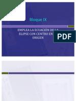 Bloque IX. La Elipse