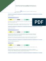 Result a Dos Del Test de Personal Id Ad 16 Factores