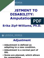Adjustment to Disability - Amputation
