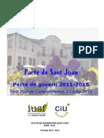 Pacte de Govern per Sant Fost (IUSF, CiU), 2011-2015