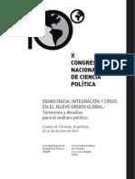 Programa definitivo del  IX CONGRESO NACIONAL DE CIENCIA POLÍTICA