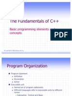 The Fundamentals of C++