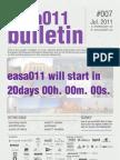 BOLETIN EASA011 [European Architecture Students Assembly] - CÁDIZ (ESP)