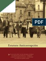 CARTILLA ESTATUTO ANTICORRUPCIÓN
