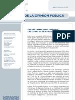 Encuesta de la PUCP sobre economía y politica