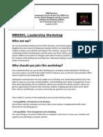 MBSSKL Leadership Workshop