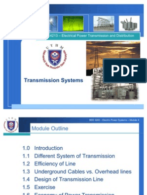 BEK4213 Chapter 1   Electric Power Transmission   Electric Power System