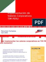 Caso Valores TIM Perú