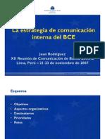 Estrategia de CI, Caso BCE