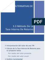 Analisis de Alternativas de Inversion - TIR