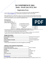 Registration Form RIdIM 2011 BMC