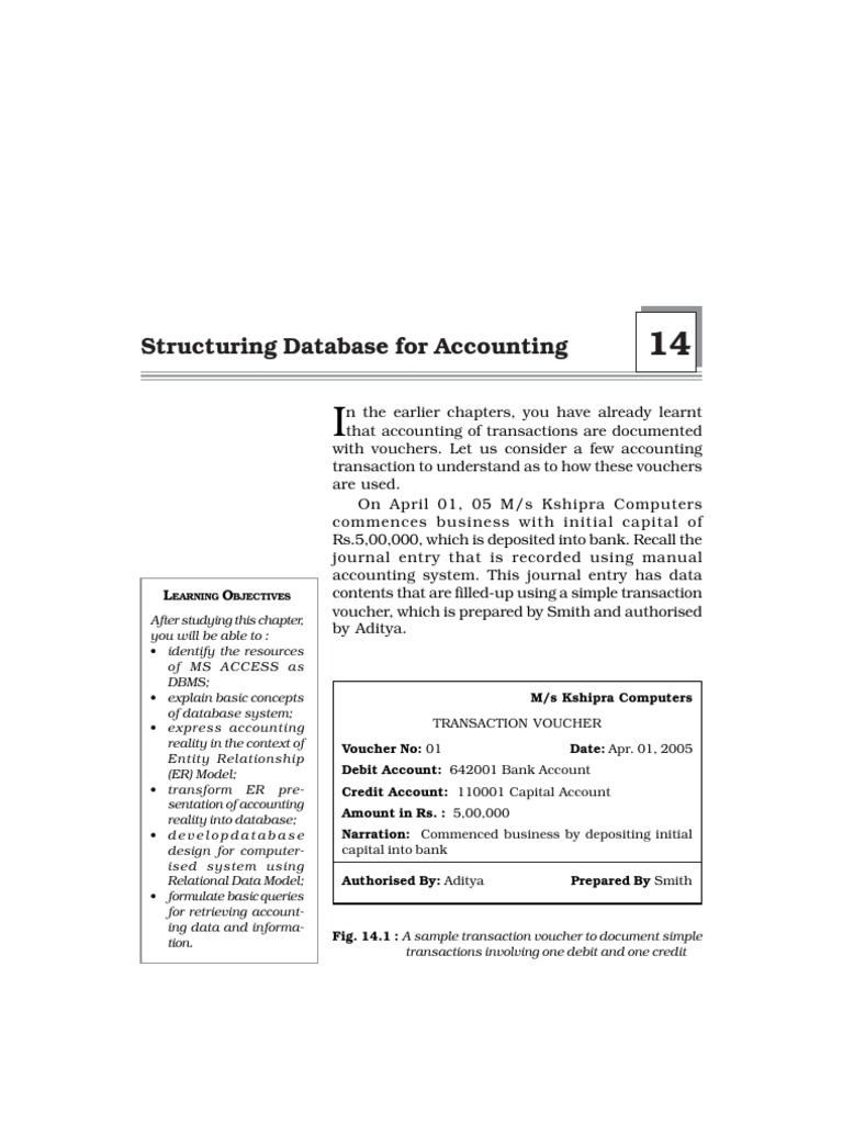 Ch 14 Relational Database Model Voucher Rma