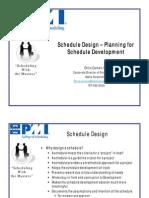 Schedule - Planning for Schedule Development