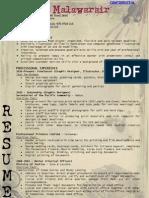 Resume - Monica Malawarair