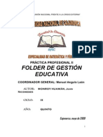 FOLDER DE GESTIÓN EDUCATIVA