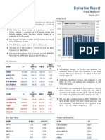 Derivatives Report 20th July 2011