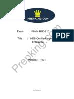 Prepking HH0-210 Exam Questions