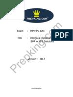 Prepking  HP0-S14 Exam Questions