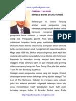 Chairul Tanjung.bos Trans Tv & Bank Mega