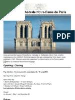 Tours de La Cathedrale Notre Dame de Paris