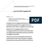 Assignment of Mortgage Guide