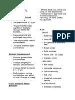 Pedia Notes #1 - Preschool