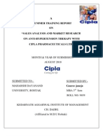 Project Report on Cipla (Gaurav Juneja) Recovered)