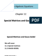 Special Matrices and Gauss-Seidel